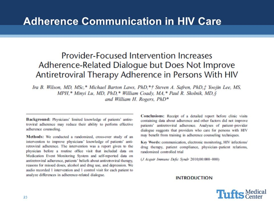 Adherence Communication in HIV Care