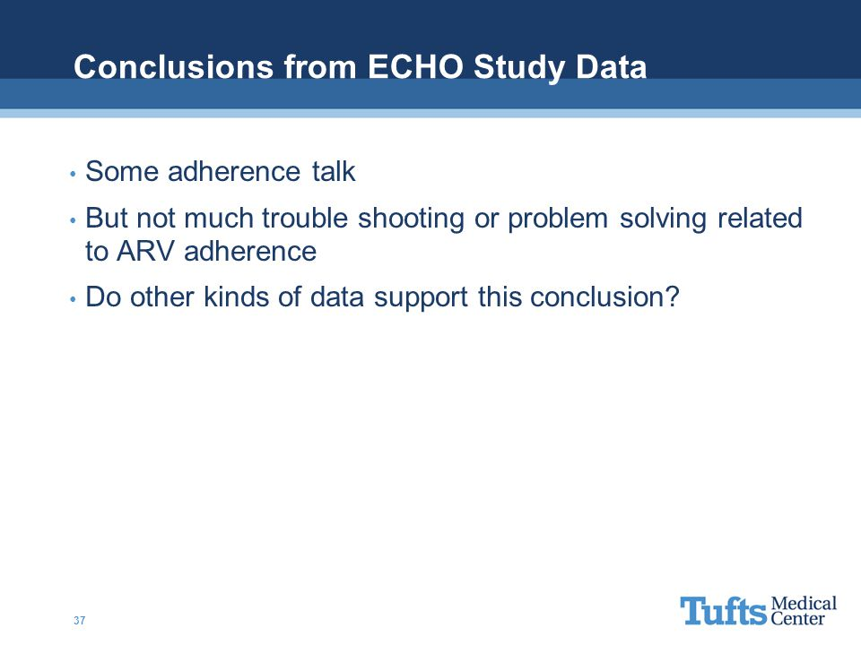 Conclusions from ECHO Study Data