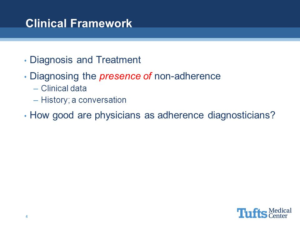 Clinical Framework Diagnosis and Treatment