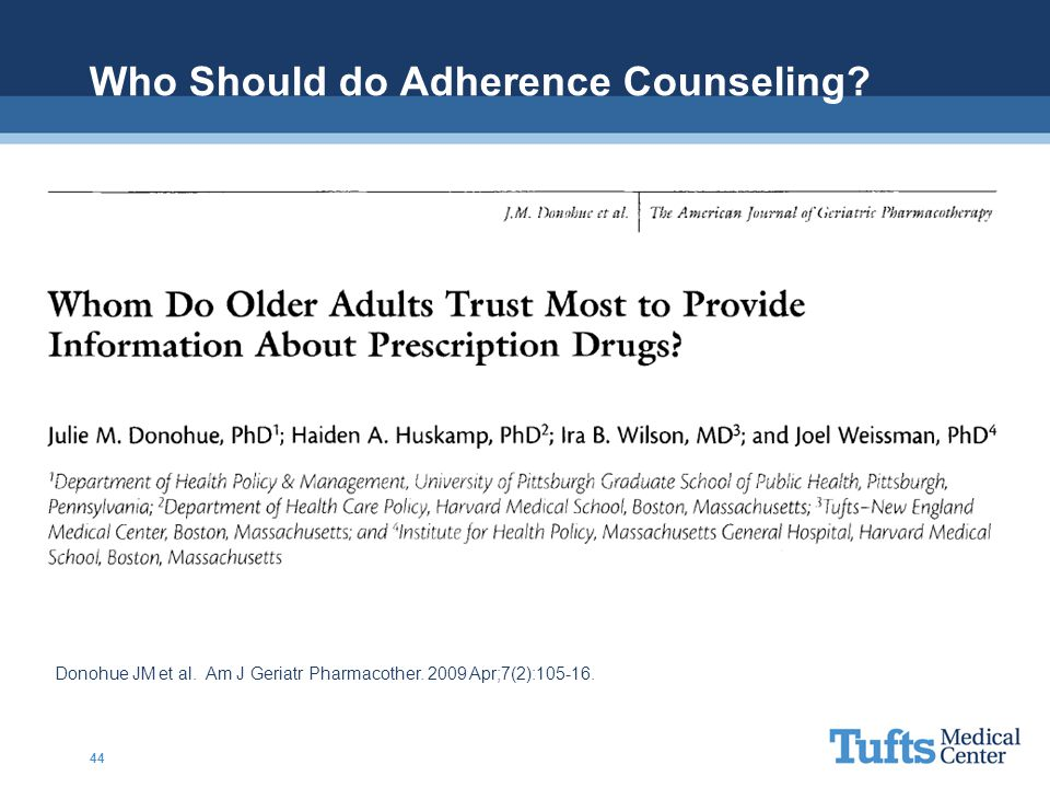 Who Should do Adherence Counseling