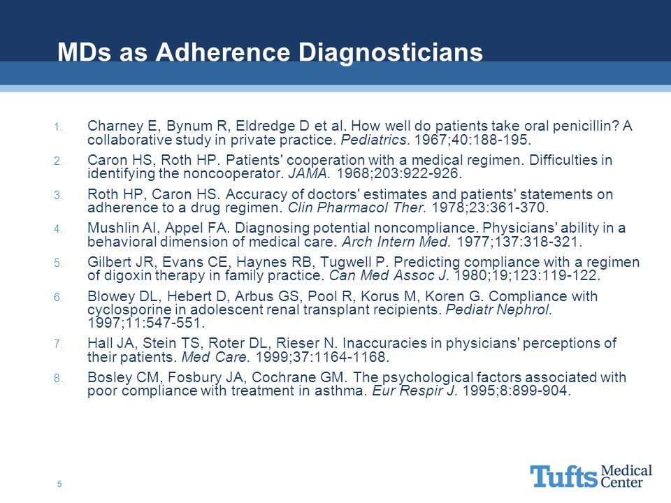 MDs as Adherence Diagnosticians