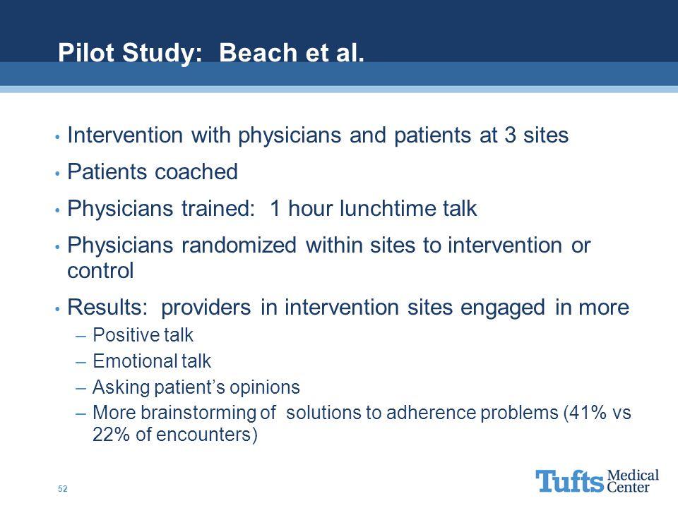 Pilot Study: Beach et al.