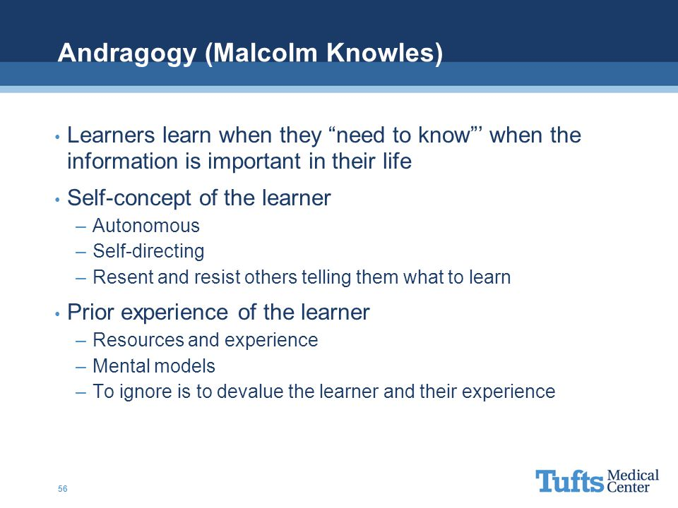 Andragogy (Malcolm Knowles)