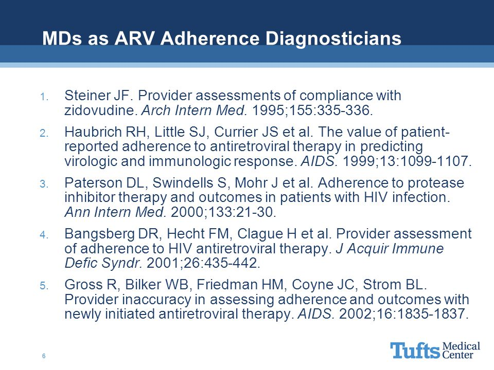 MDs as ARV Adherence Diagnosticians