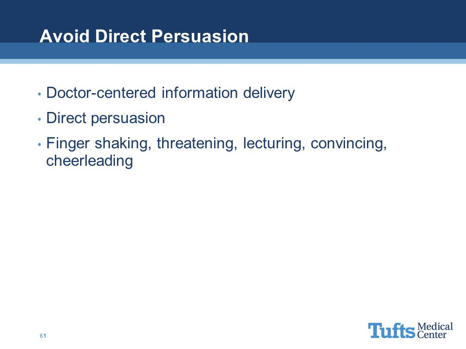 Avoid Direct Persuasion
