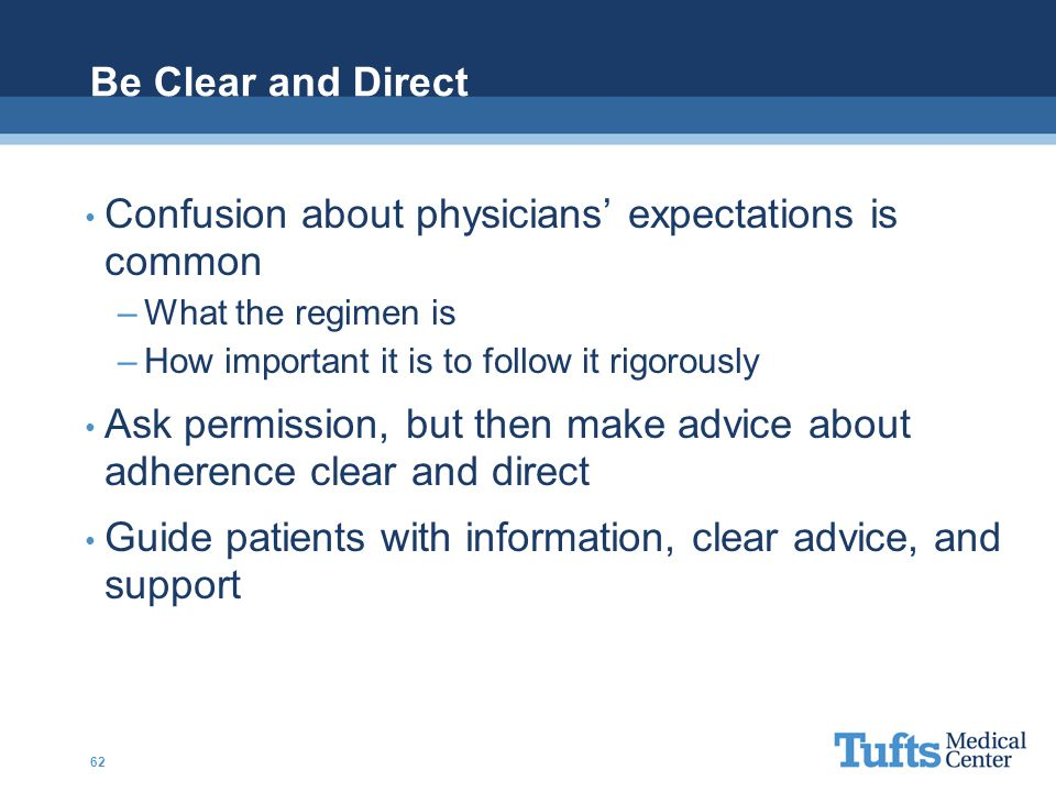 Confusion about physicians' expectations is common