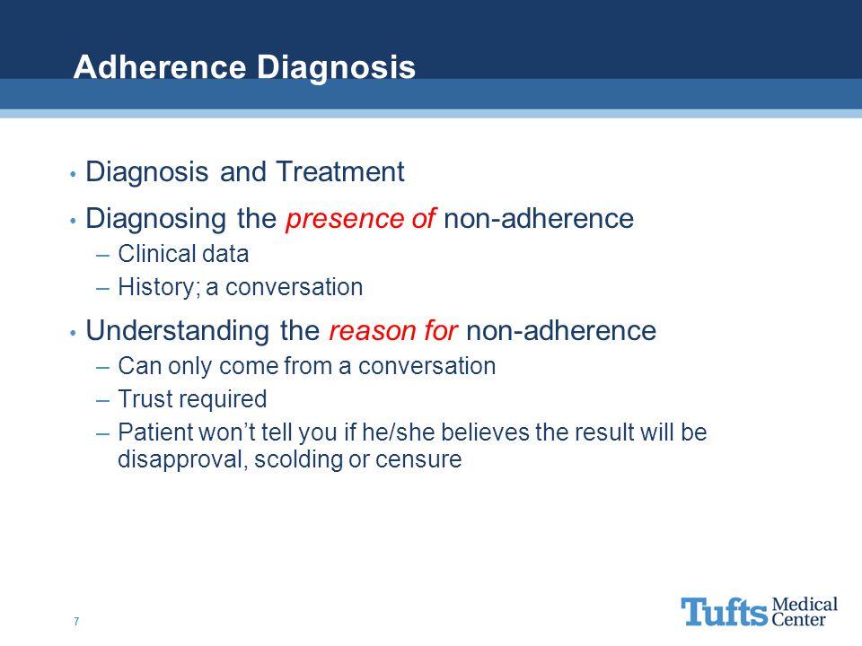 Adherence Diagnosis Diagnosis and Treatment