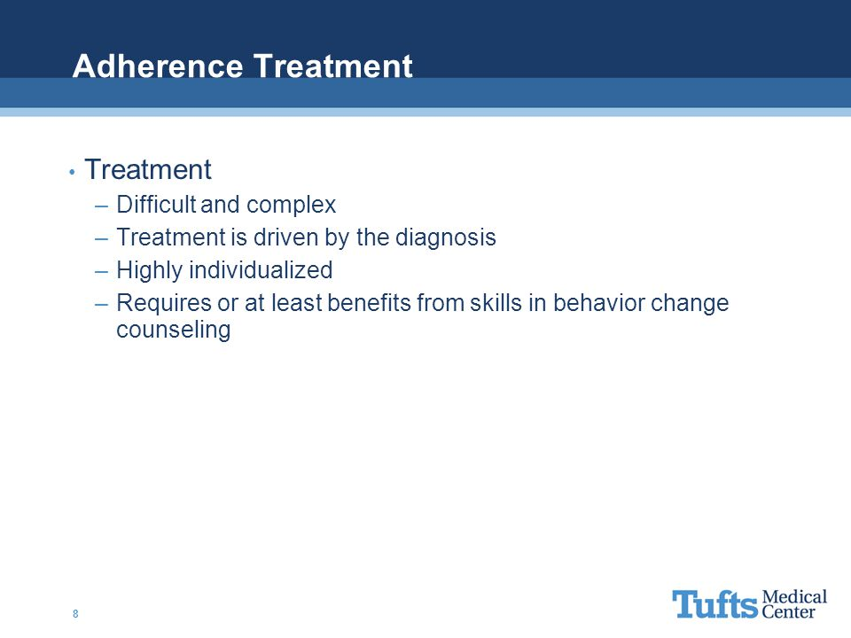 Adherence Treatment Treatment Difficult and complex