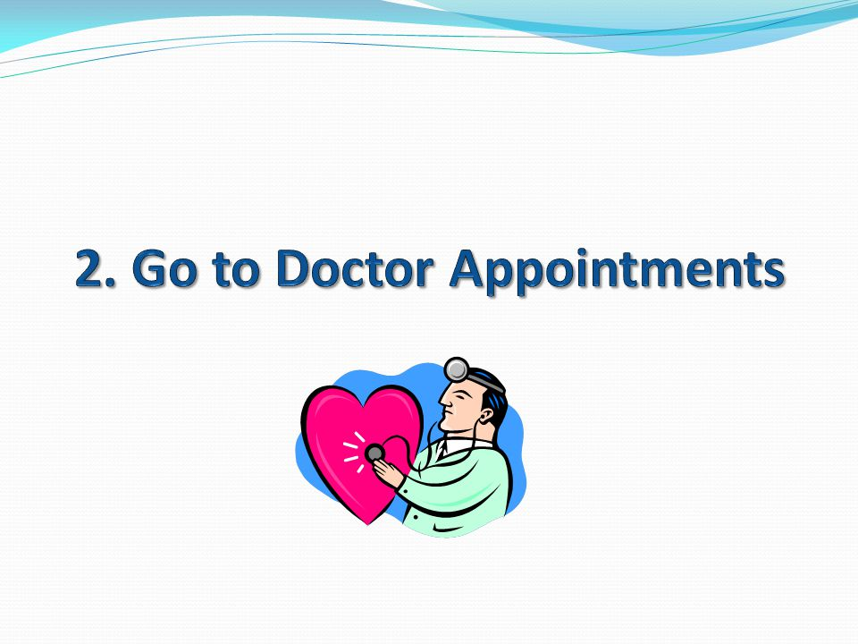 2. Go to Doctor Appointments