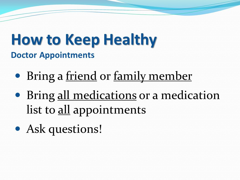 How to Keep Healthy Doctor Appointments