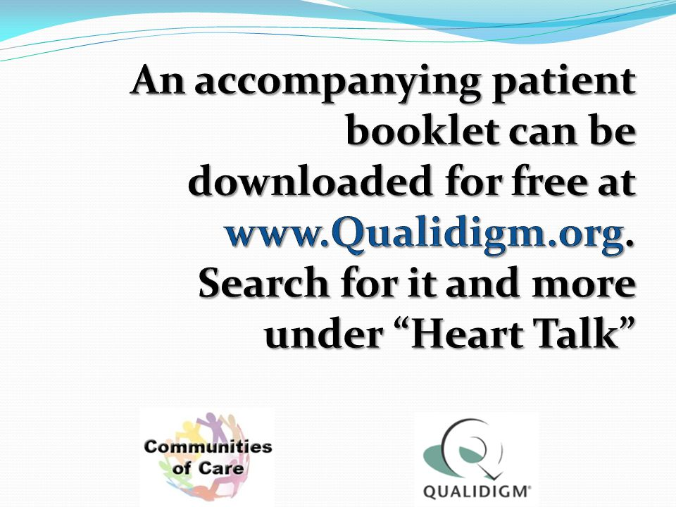 An accompanying patient booklet can be downloaded for free at www