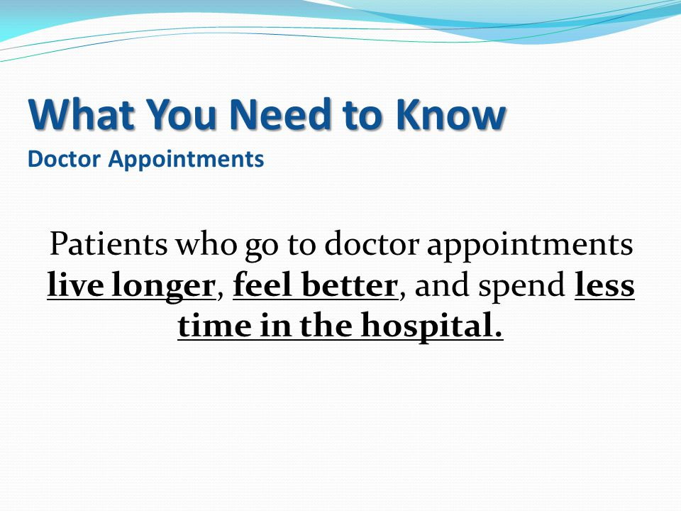 What You Need to Know Doctor Appointments