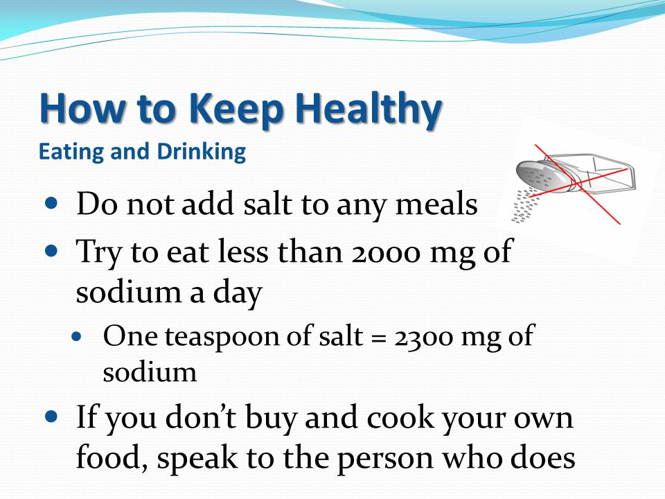 How to Keep Healthy Eating and Drinking