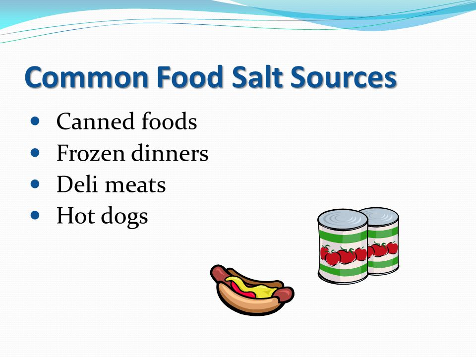 Common Food Salt Sources