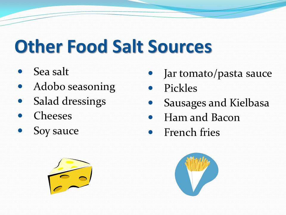 Other Food Salt Sources