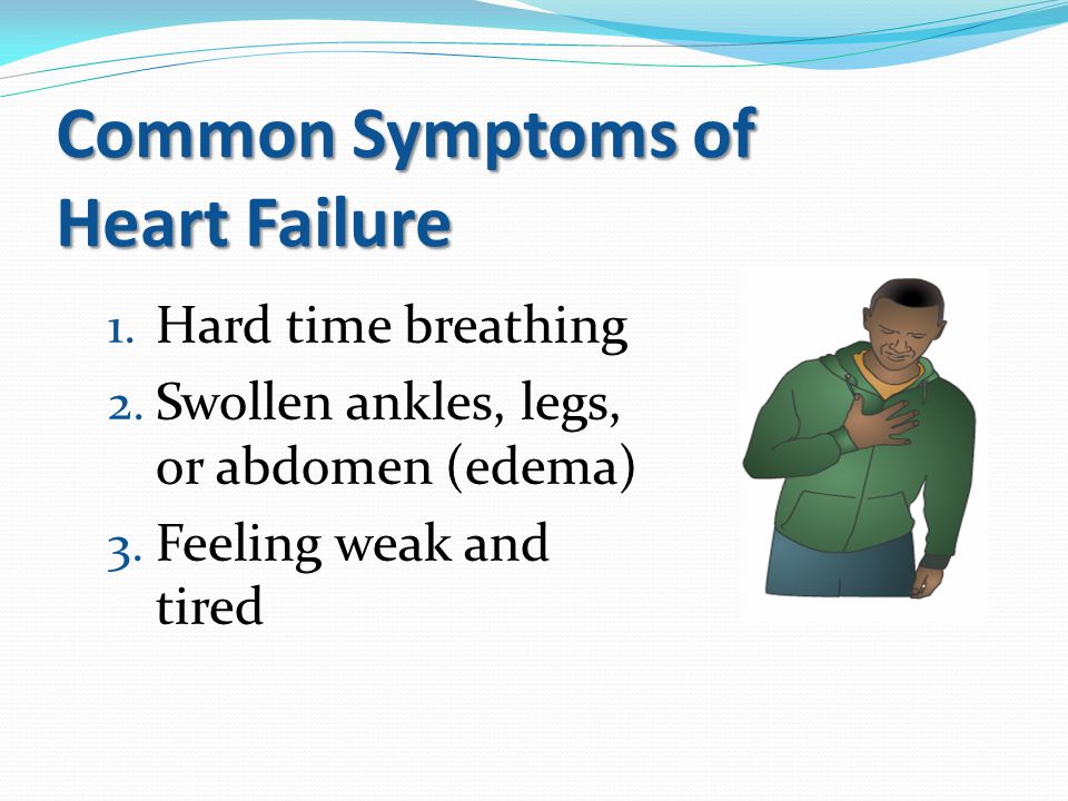 Common Symptoms of Heart Failure