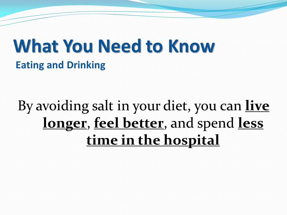 What You Need to Know Eating and Drinking
