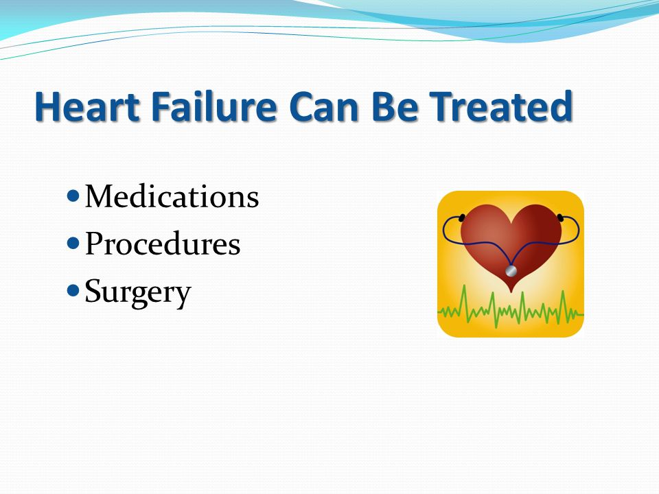 Heart Failure Can Be Treated