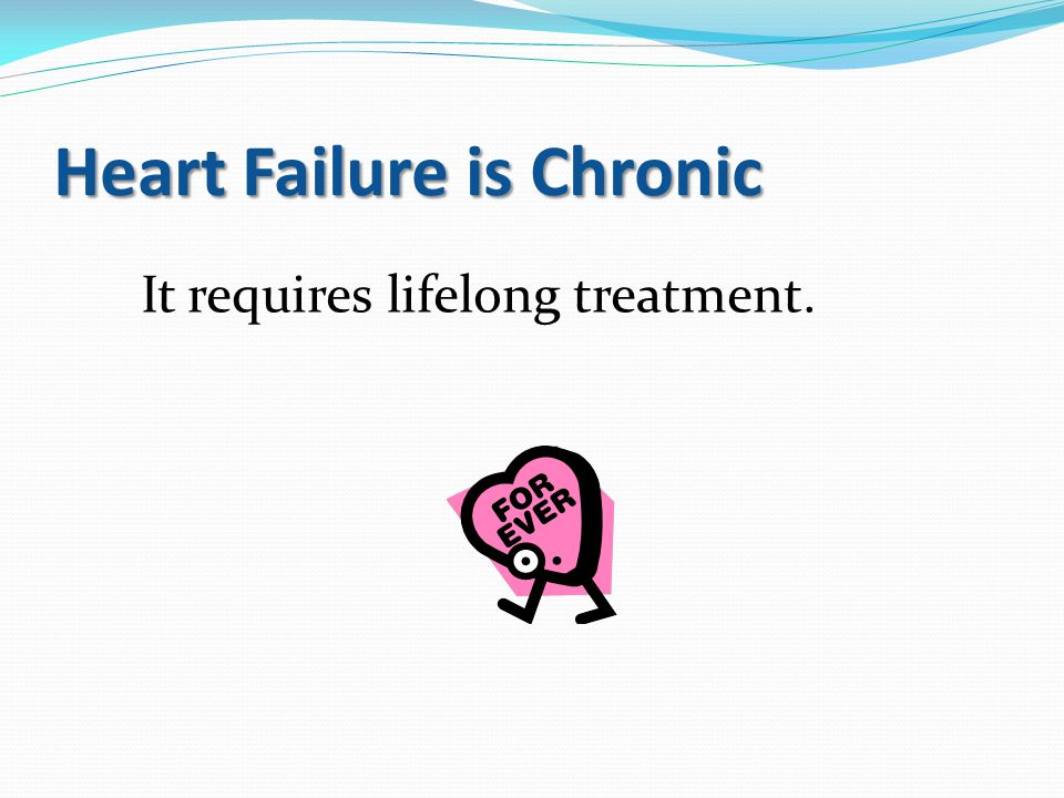 Heart Failure is Chronic