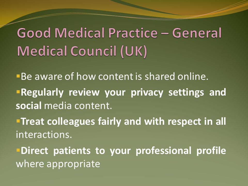 Good Medical Practice – General Medical Council (UK)