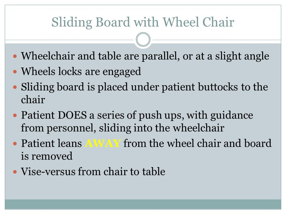 Sliding Board with Wheel Chair