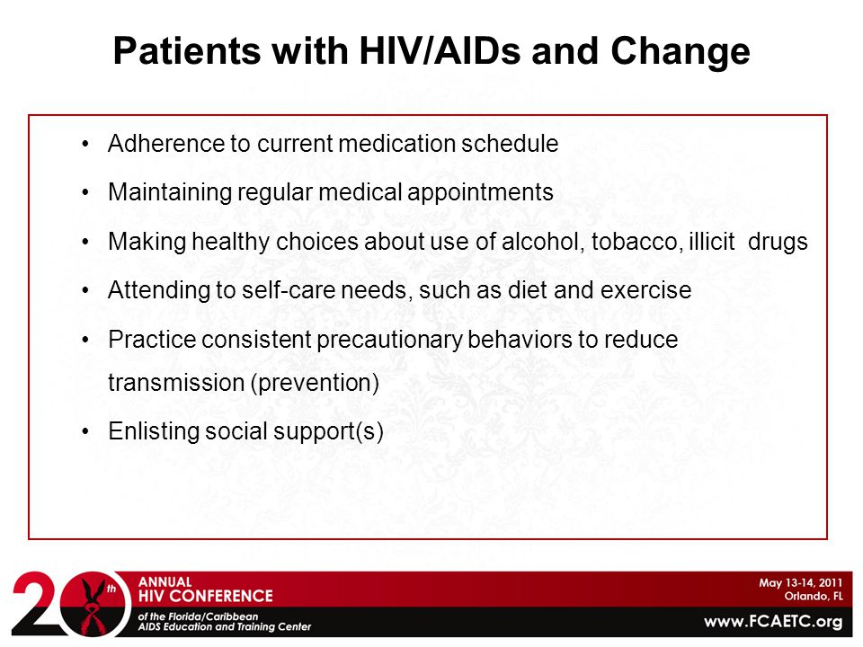 Patients with HIV/AIDs and Change
