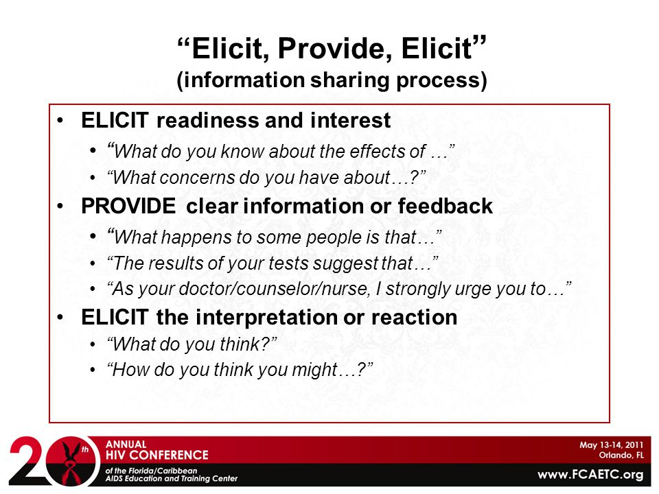 Elicit, Provide, Elicit (information sharing process)