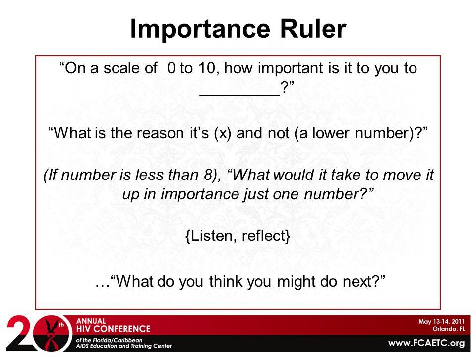 Importance Ruler