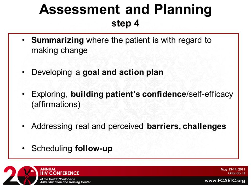 Assessment and Planning step 4
