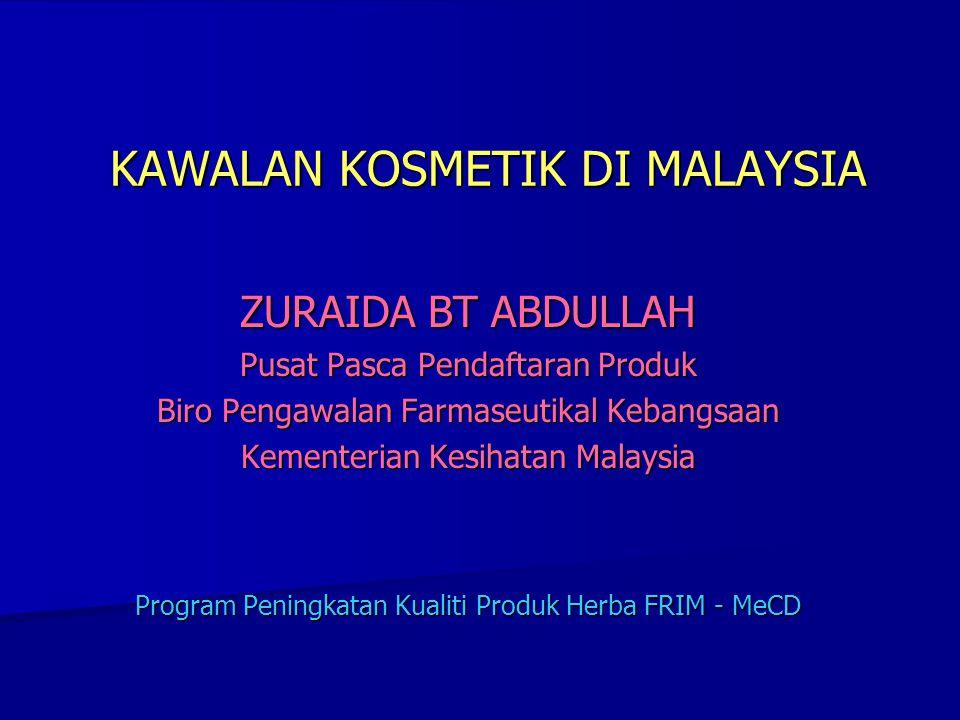 KAWALAN KOSMETIK DI MALAYSIA