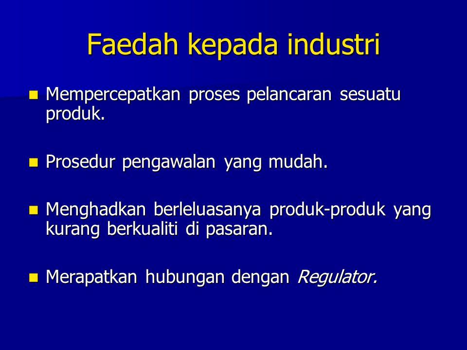 Faedah kepada industri