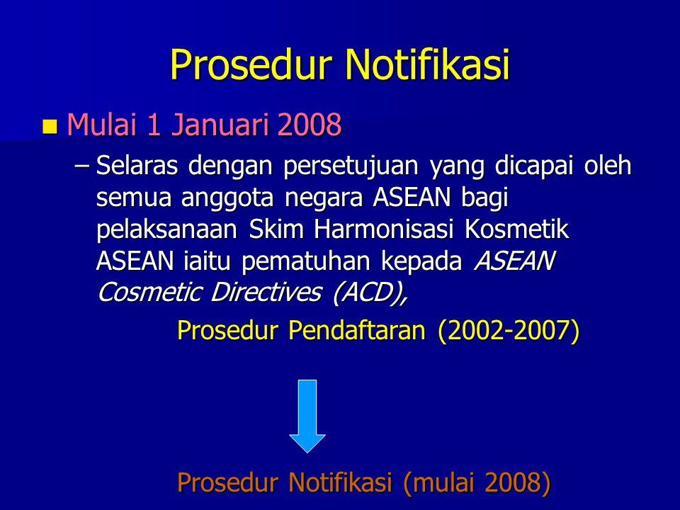 Prosedur Notifikasi Mulai 1 Januari 2008