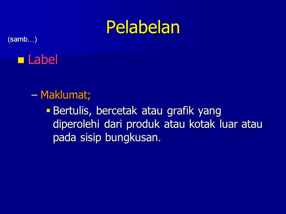 Pelabelan Label Maklumat;