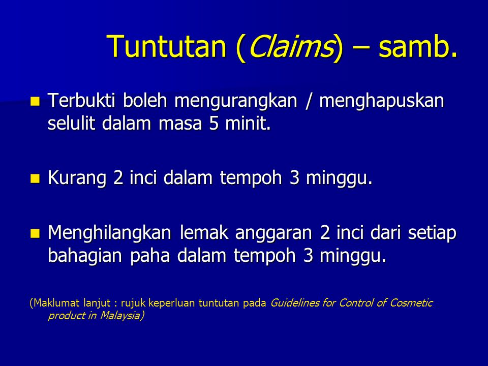 Tuntutan (Claims) – samb.