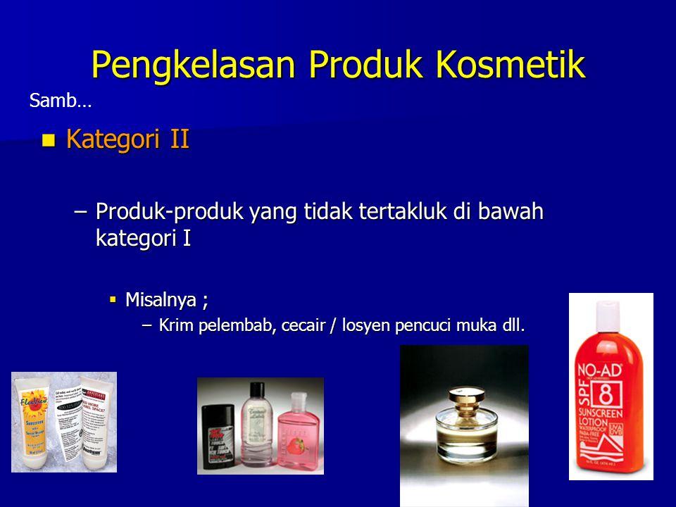 Pengkelasan Produk Kosmetik