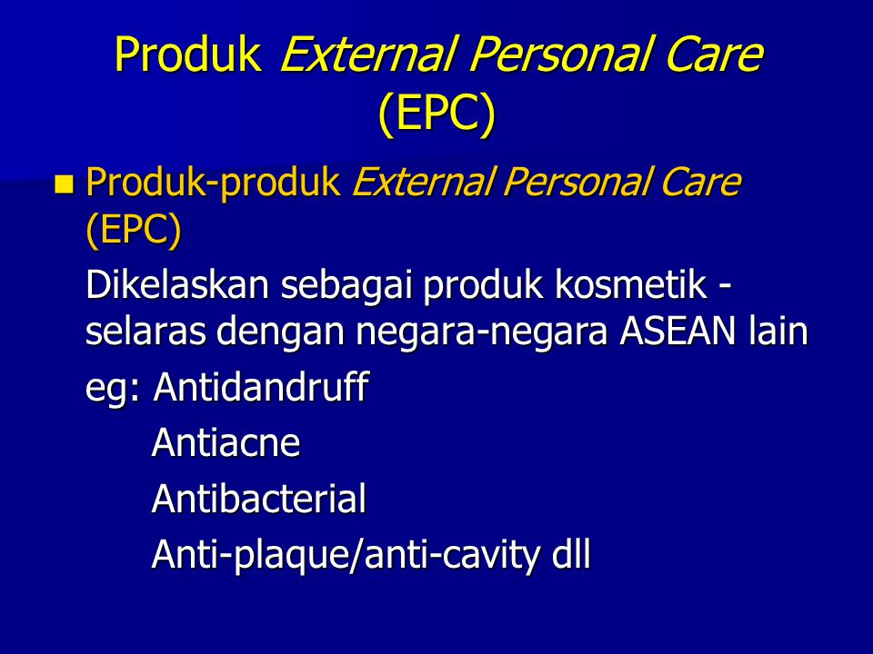 Produk External Personal Care (EPC)