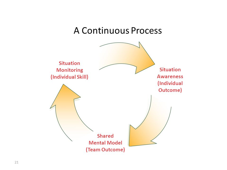 A Continuous Process Situation Monitoring (Individual Skill)