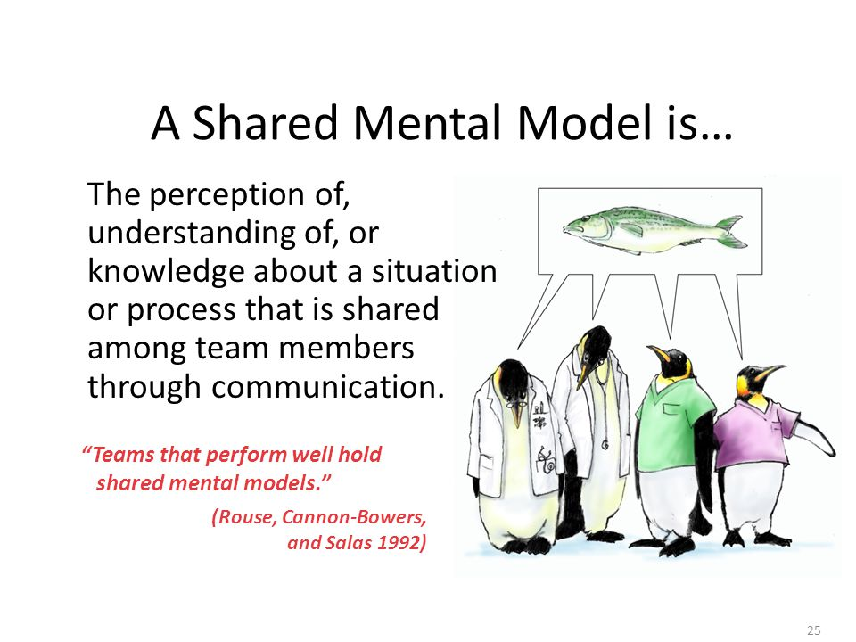 A Shared Mental Model is…