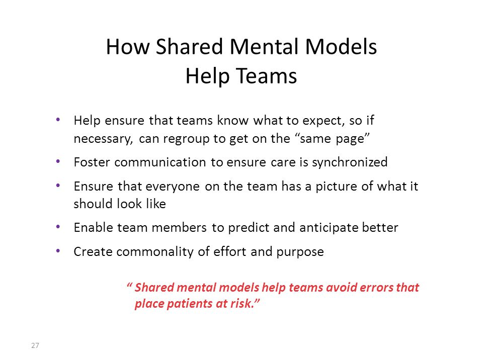 How Shared Mental Models Help Teams
