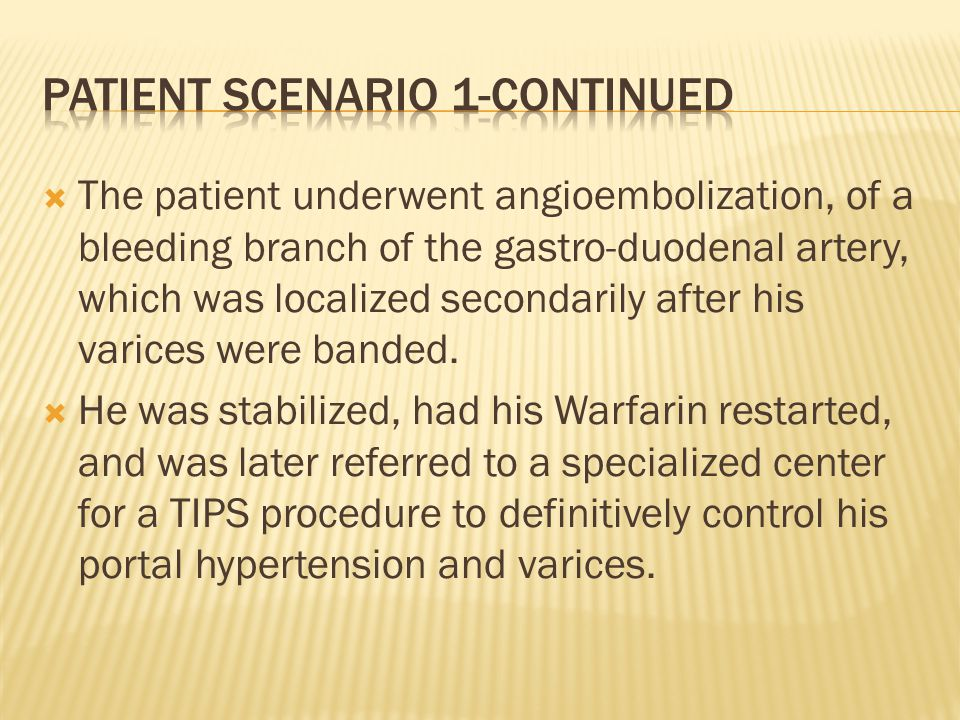 Patient scenario 1-continued