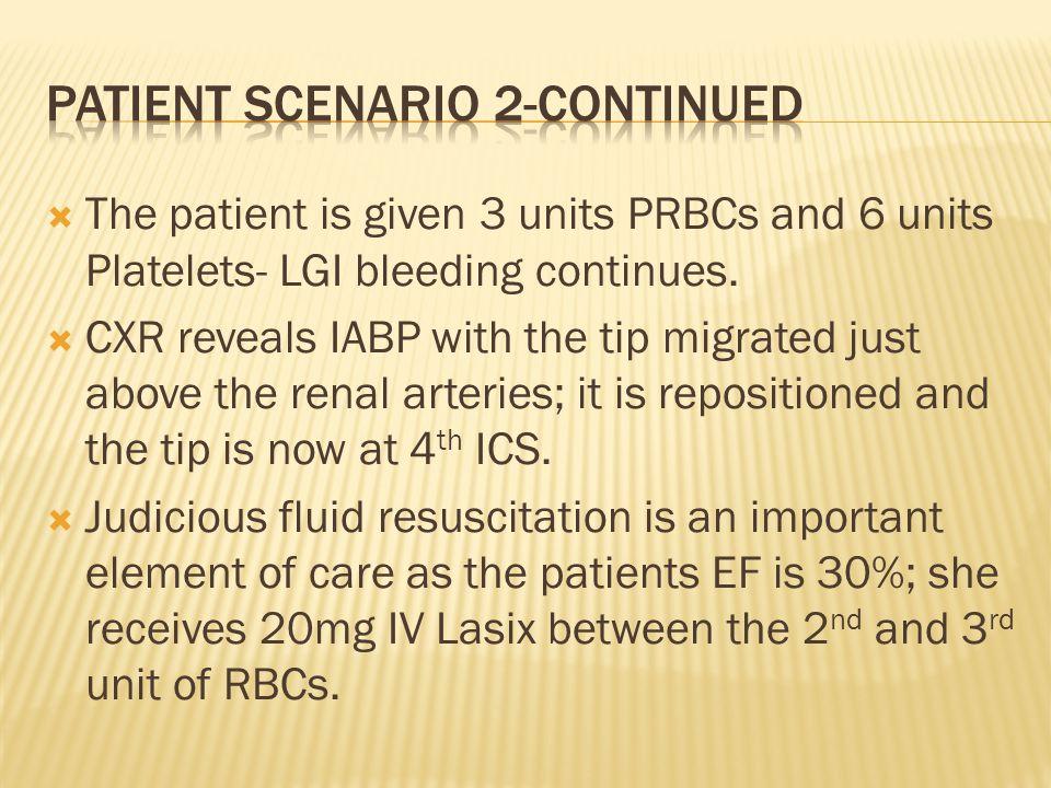 Patient scenario 2-continued