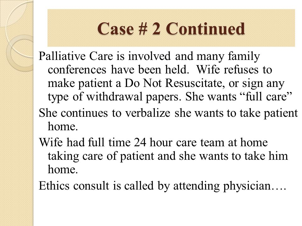 Case # 2 Continued