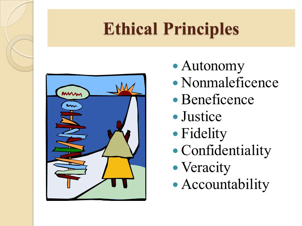 Ethical Principles Autonomy Nonmaleficence Beneficence Justice