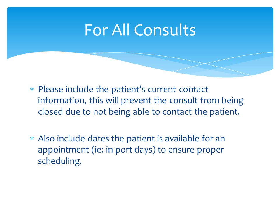 For All Consults