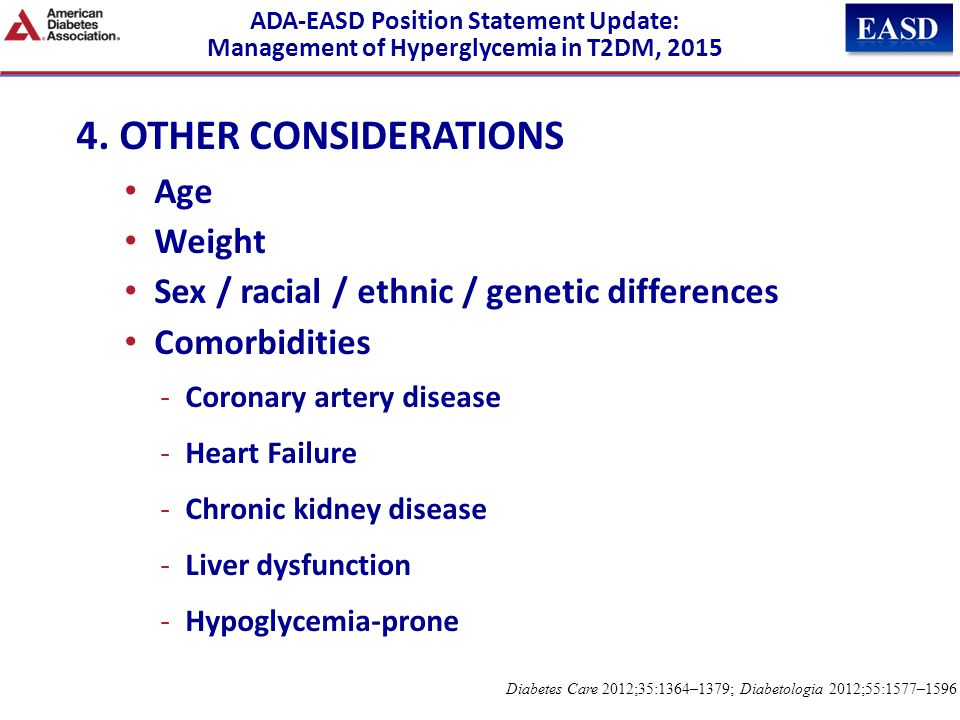 4. OTHER CONSIDERATIONS Age Weight