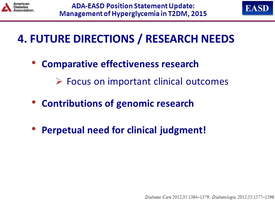 4. FUTURE DIRECTIONS / RESEARCH NEEDS