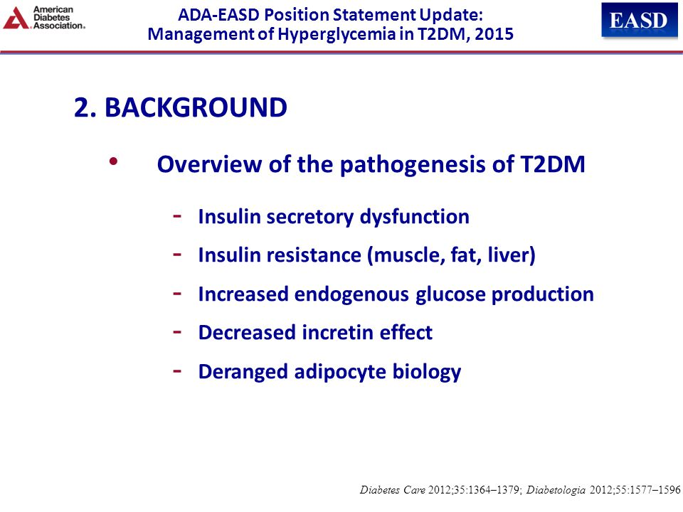 2. BACKGROUND Overview of the pathogenesis of T2DM
