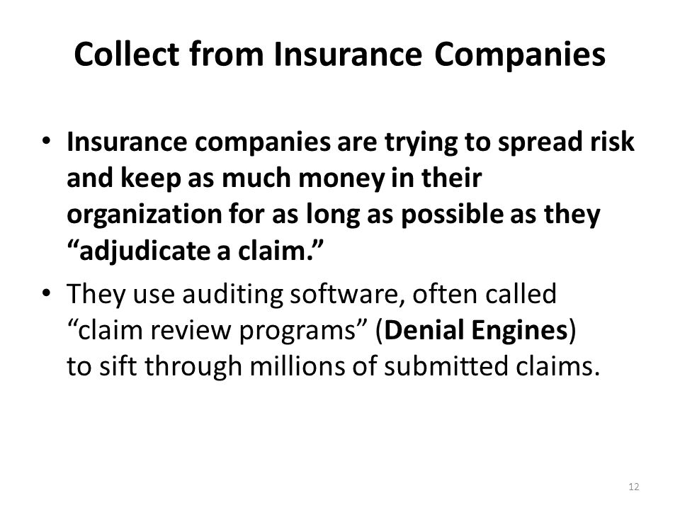 Collect from Insurance Companies