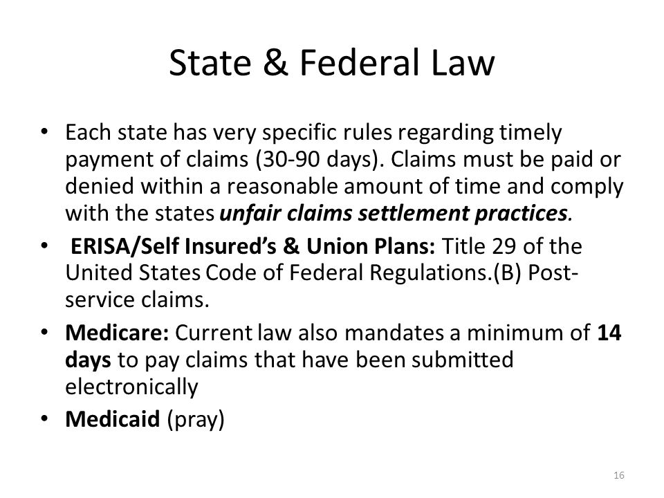 State & Federal Law