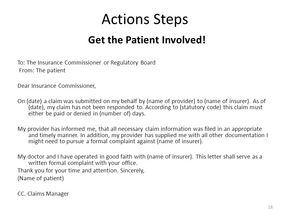 Actions Steps Get the Patient Involved!